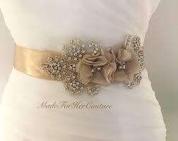 wedding sash chagne wedding sash bridal sash wedding belt bridal belt
