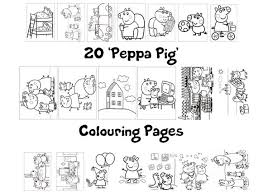 peppa pig coloring pages a4 peppa pig colouring book pack 20 x a4 sheets rainy day