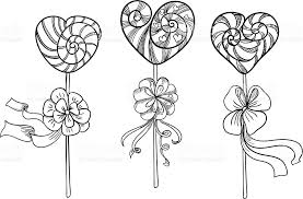 drawn lollipop valentines day pencil and in color drawn lollipop