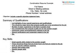combination resumes exles of resume formats