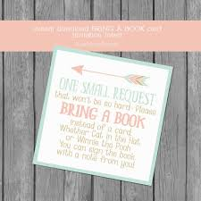 baby shower instead of a card bring a book adventure themed bring a book card insert baby shower invitation
