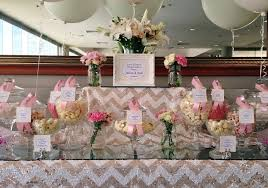 Pink And White Candy Buffet by Candy Buffet