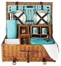 picnic basket set for 4 f premier tea and wine picnic basket 4 person traditional