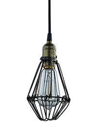 wire cage pendant light sale industrial edison vintage hanging light wire cage pendant