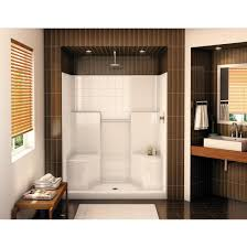 Small Shower Stall by Shower Awesome One Piece Corner Shower Bathroom Recommended