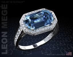 r5793 leon mege art deco geometric halo aquamarine ring