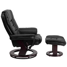 White Leather Chair With Ottoman Amazon Com Flash Furniture Contemporary Black Leather Recliner