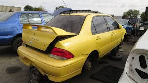 mitsubishi rally car junkyard treasure 2003 mitsubishi lancer oz rally edition autoweek