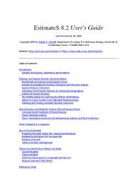estimates 8 2 users guide standard deviation confidence interval