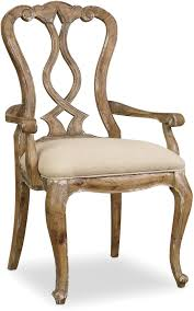 hooker furniture dining room chatelet splatback arm chair 5300 75400