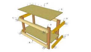 Workbench Table Plans Dzqxhcom - Work table design plans