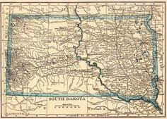 south dakota map with cities map of south dakota cities state of south dakota usa