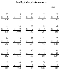 bluebonkers multiplication practice sheets double digit number