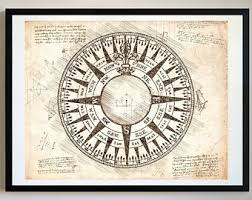 compass art etsy