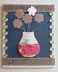 3d flower vase birthday card allfreepapercrafts com