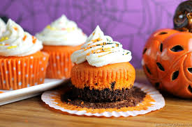 brownie bottom halloween cupcakes persnickety plates