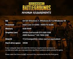 pubg pc requirements play battlegrounds on twitter we have updated minimum specs on