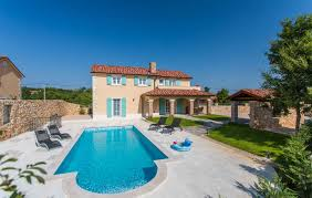 rent villa with pool on the island of krk in croatia
