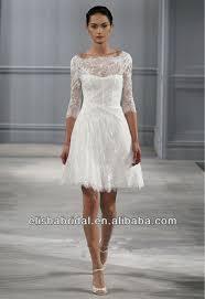 Short White Wedding Dresses White Lace Short Wedding Dress Wedding Ideas
