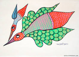 chicken home decor home decor gond painting indian handicraft wall hanging discovered