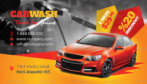 car wash business card templates by grafilker graphicriver