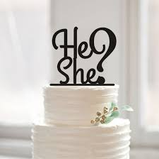 cake toppers for baby showers gender reveal cake topper he or she cake topper custom baby shower