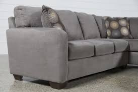 Ashley Raf Sofa Sectional Zella Charcoal 2 Piece Sectional W Raf Chaise Living Spaces