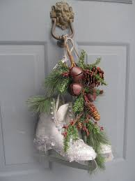 winter ice skates front door decor winter wedding centerpiece