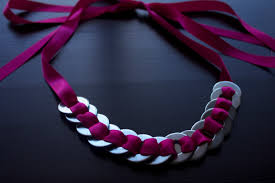 jewelry ribbon necklace images Diy neon pink ribbon washer necklace my bloggable day jpg