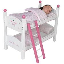 18 Inch Doll Bunk Bed 18 Inch Doll Stackable Bunk Bed Painted Furniture Bedding