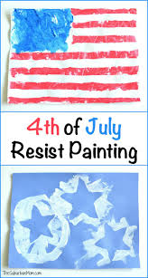 4th of july resist painting kids craft thesuburbanmom