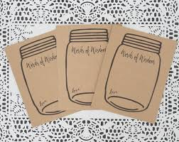 wedding advice cards words of wisdom cards jar wedding advice card kraft