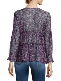 purple silk blouse joie shawni floral silk sleeve blouse purple s tops
