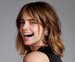 medium length hairstyles for hair parted in middle with bangs 11 emma watson hair looks to inspire your next chop