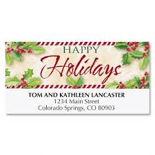 personalize order today these happy holidays return address labels