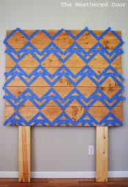 diy geometric planked wood headboard tutorial for under 100
