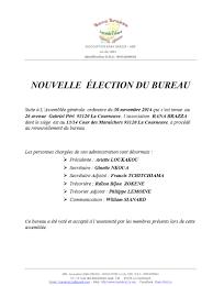election bureau association loi 1901 5 élégant assemblée générale association renouvellement bureau