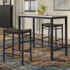 bar top table and chairs pub tables bistro sets you ll love wayfair