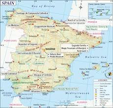 Map Of Spain And Morocco by Map Of Spain In Spanish Imsa Kolese