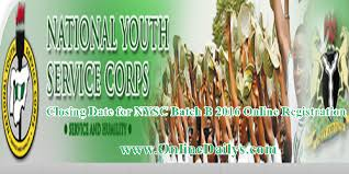 date for nysc batch b 2016 registration