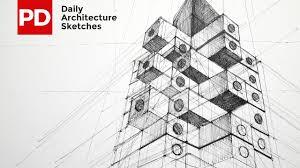 drawing nakagin capsule tower daily architecture sketches 13