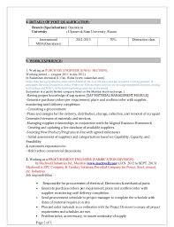 Sample Resume For Purchase Manager by Sachin Resume Procurement Engineer 1