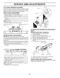 service and adjustments mcculloch mowcart 66 user manual page