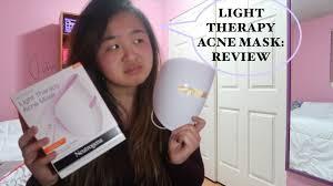 neutrogena acne light mask review neutrogena light therapy mask review jenn nguyen youtube