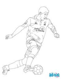 soccer player scoring a penalty online coloring soccer coloring