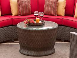 round wicker end table best round wicker coffee table the homy design
