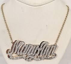 3d nameplate necklace 14kt 2tone 3d nameplate necklace charletta charlene