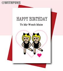 funny birthday card for sister gift humour comedy twins birthday