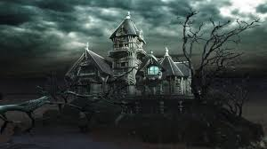 halloween castle background horror castle halloween picture wallpaper with horror house