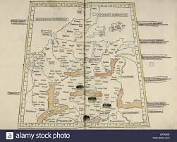 germania map map of magna germania from cosmographia by claudius ptolemy